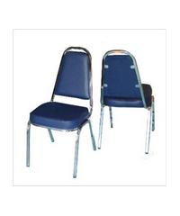 SBL เก้าอี้จัดเลี้ยง มีหู หุ้มหนังสีน้ำเงิน เก้าอี้ CM-002 มีหู สีน้ำเงิน สีน้ำเงิน