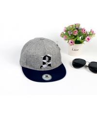 USUPSO หมวกแก๊ป Slub yarn letterสีเทาอ่อน -