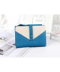 USUPSO กระเป๋าเงินผู้หญิง สีน้ำเงิน -