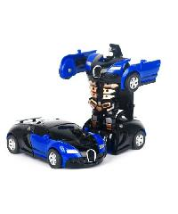 SanookToys Toys ชุด Deformation of the car  296693 สีน้ำเงิน