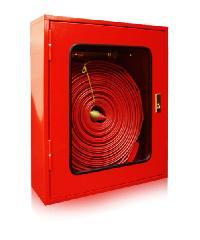 SATURN ตู้เก็บสายส่งน้ำดับเพลิงแบบลอย กระจกธรรมดา  60x20x70 cm. เหล็ก