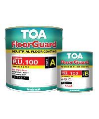 TOA HDC ฟลอร์การ์ด พียู 100 สีทับหน้า ส่วนเอ 1 กล #0500 สีอุตสาหกรรม สีน้ำเงิน