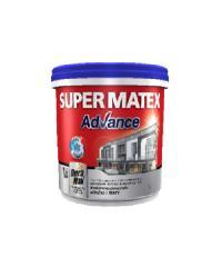 TOA Supermatex ซุปเปอร์เมเทค แอดวานซ์ สีน้ำด้าน ภายนอก เบส 1 กล #000A SUPERMATEX ADVANCE สีขาว