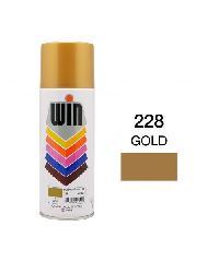 WIN สีสเปรย์ทอง 400cc. WIN-228