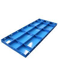 MAXLIGER แบบเหล็กเรียบ ขนาด 400x1200mm. แผ่น 1.4 โครง 2.0 กระดูก 1.4mm. สีน้ำเงิน