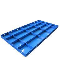 MAXLIGER แบบเหล็กเรียบ ขนาด 600x1200mm. แผ่น 1.4 โครง 2.0 กระดูก 1.4mm. สีน้ำเงิน