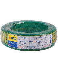 BCC สายไฟทองแดง IEC 01 2.5 สีเขียวคาดเหลือง (50ม) THW