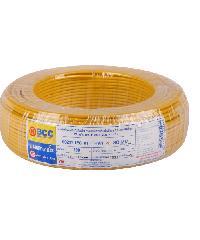 BCC สายไฟทองแดง IEC 01  4 (50ม)  THW สีเหลือง
