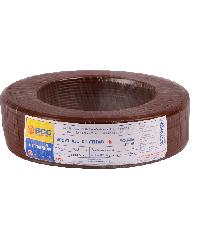 BCC สายทองแดง IEC 01 6 (100ม) BCC THW สีน้ำตาล