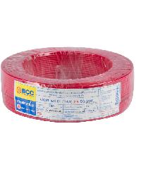 BCC สายไฟฟ้า IEC 01 1X2.5 สีแดง (50ม.) BCC THW สีแดง