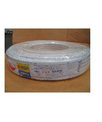 BCC สายไฟฟ้า สีขาว มอก.ใหม่ VAF 2 x 4 (100ม)