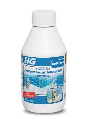 HG น้ำยาทำความสะอาดอเนกประสงค์ 0.25L. (สำหรับห้องน้ำ) PROFESSIONAL LIMESCALE REMOVER สีฟ้า