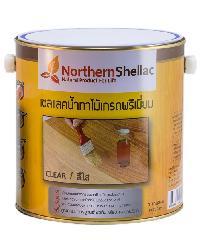 NORTHERNSHELLAC เชลแลคน้ำทาไม้ สูตรสีใส  กล. พรีเมียม สีเหลือง