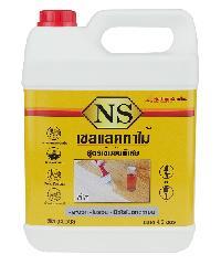 NORTHERNSHELLAC เชลแลคทาไม้ NS สีใส 4.80 ลิตร สูตรเข้มข้นพิเศษ สีเหลือง