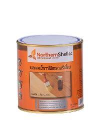 NORTHERNSHELLAC เชลแลคน้ำทาไม้ สูตรสีธรรมชาติ 1/4 กล. พรีเมียม สีส้ม