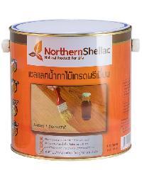 NORTHERNSHELLAC เชลแลคน้ำทาไม้ สูตรสีธรรมชาติ กล. พรีเมียม สีส้ม