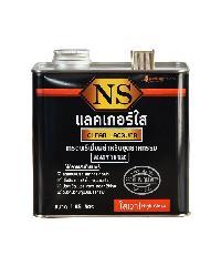 NORTHERNSHELLAC NS แลคเกอร์ใส สูตรเงา 1.85 ลิตร สีทับหน้า สีดำ