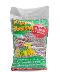 Popper  เม็ดดินเผามวลเบา ไซส์ M บรรจุ 1 ลิตร - น้ำตาล