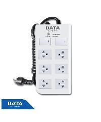 DATA ปลั๊กไฟ 6ช่อง 2สวิทซ์ 5เมตร  DT6218   5M สีขาว