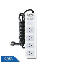DATA ปลั๊กไฟ  4 ช่อง  1 สวิทซ์ DT4118   3M สีขาว