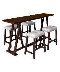 Delicato โต๊ะ BAR 4 ที่นั่ง  DARK WALNUT สีน้ำตาลเข้ม