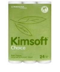 Kimsoft กระดาษชำระม้วนเล็ก 2ชั้น 9.6cm.x17.6m.(24ม้วน/แพ็ค) -