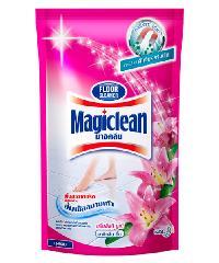 MAGICLEAN ผลิตภัณฑ์ทำความสะอาดพื้น( ชนิดเต็ม)   มาจิคลีนชมพู 800 มลx12  สีชมพู