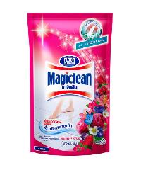 MAGICLEAN ผลิตภัณฑ์ทำความสะอาดพื้น (ชนิดเติม)  เบอร์รี 800มล1X12  สีแดง