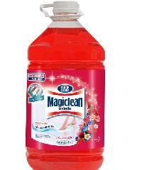 MAGICLEAN ผลิตภัณฑ์ทำความสะอาดพื้น  เบอร์รี่อโรม่า 5200มลX4  สีแดง
