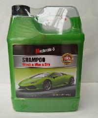 Mechanic-5 แชมพู วอช แอนด์ แว็กซ์ แอนด์ ดราย (แชมพูล้างรถผสมแว็กซ์เคลือบเงา) Mechanic-5  สีเขียว