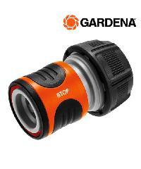 """GARDENA ข้อต่อสวม แบบมีระบบหยุดน้ำในตัว  ขนาด 3/4"""" (19มม.) สีส้มดำ"""