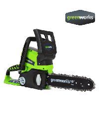 GREENWORKS  เลื่อยตัดไม้ 24V , 0.6 แรงม้า, บาร์ 10 นิ้ว  2000007
