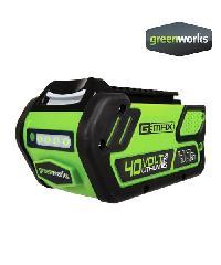 GREENWORKS  แบตเตอรี่  ขนาด 40V, ความจุ 4 แอมป์ สีเขียว
