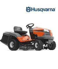 HUSQVARNA  รถตัดหญ้านั่งขับ  TC138 เครื่อง 13 แรงม้า(เกียร์ออโต้) สีส้มดำ
