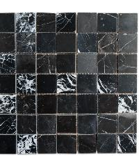 หินธรรมชาติ 30x30 โมเสคหินอ่อนแบล็คมาคิวน่า ผิวขัดมัน   NSD-NMC-009