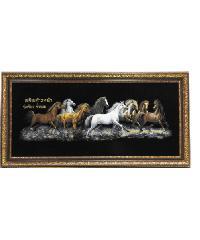 """Anchalee frame ภาพม้ากำมะหยี่(เล็ก)สีดำ  A5 ขนาด13""""x29"""""""