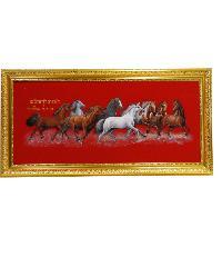 """Anchalee frame ภาพม้ากำมะหยี่(เล็ก)สีแดง A6 ขนาด13""""x29"""""""