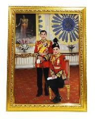 "Anchalee frame ภาพร.10+ราชินี A17 ขนาด15""x21"""