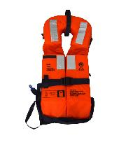 EVAL เสื้อชูชีพ โฟมแบบพับได้ มาตรฐาน SOLAS  สีส้ม-ดำ 02010-6