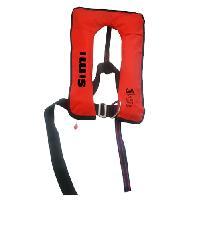 EVAL เสื้อชูชีพแบบพองลม Manual หัวเข็มขัดแบบโลหะ (D-RING)  04326-3  สีแดง