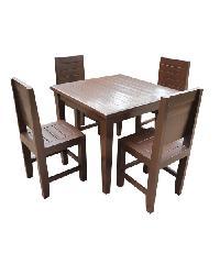 MPTeak ชุดโต๊ะอาหารไม้สัก 4 ที่นั่ง  TA01-4