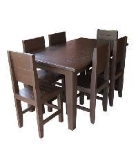 MPTeak ชุดโต๊ะอาหารไม้สัก 6ที่นั่ง  TA01-6