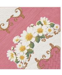 Sosuco 12X12 มงกุฏดอกไม้-ชมพู (11P) A. Floor Tiles สีชมพู