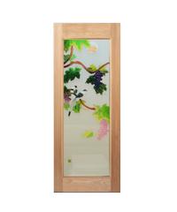 Masterdoors ประตูไม้สยาแดง ขนาด  80x200 cm. ART-05 ธรรมชาติ