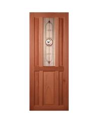 Masterdoors ประตูกระจกสยาแดง ขนาด 80x200 cm. SS-01 ธรรมชาติ