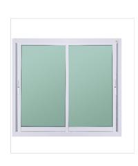 A-Plus หน้าต่างอลูมิเนียมบานเลื่อน SS Like-006 1.20 x 1.08 ม.  สีขาว ไม่มีมุ้ง