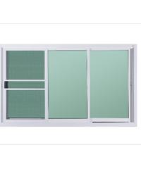 A-Plus หน้าต่างอลูมิเนียมบานเลื่อน 1.80 x 1.08 ม. พร้อมมุ้ง SFS Like-008 สีขาว