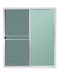 A-Plus ประตูบานเลื่อนสลับ (พร้อมมุ้ง) ขนาด 180x205 cm. A-DS/008 ขาว