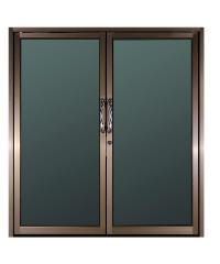 A-Plus ประตูบานสวิงคู่ (2 บาน) (ไม่มีมุ้ง ) ขนาด 90x200 cm. A-Plus like ชา