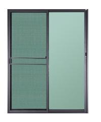 A-Plus ประตูบานเลื่อน 160 x 205  ซม. SAHARA ขาว-ดำ